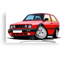 VW Golf GTi (Mk2) Red Canvas Print