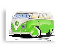 VW Splitty (11 Window) Lime Green Metal Print