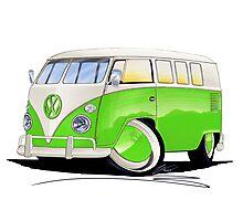 VW Splitty (11 Window) Lime Green Photographic Print