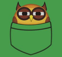 Pocket owl is highly suspicious Kids Tee