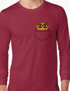 Pocket owl is highly suspicious Long Sleeve T-Shirt