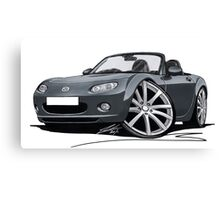 Mazda MX5 (Mk3) Grey Canvas Print