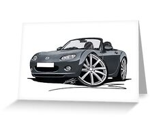 Mazda MX5 (Mk3) Grey Greeting Card
