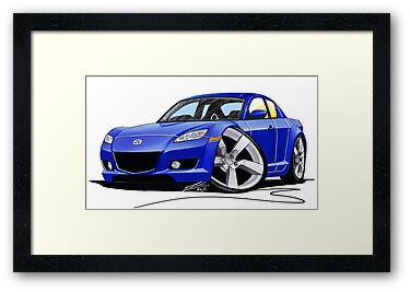 Mazda RX8 Blue by Richard Yeomans