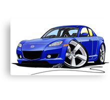 Mazda RX8 Blue Canvas Print
