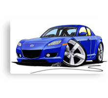 Mazda RX8 Blue Canvas Print