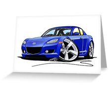 Mazda RX8 Blue Greeting Card