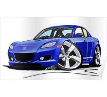 Mazda RX8 Blue Poster