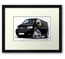 VW T5 Sportline Van Black Framed Print