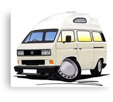 VW T25 / T3 [SQ] (High Top) White Canvas Print