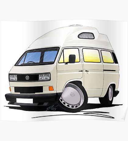 VW T25 / T3 [SQ] (High Top) White Poster