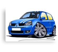 RenaultSport Clio 182 Blue Canvas Print