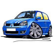 RenaultSport Clio 182 Blue Photographic Print