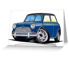 Austin Mini Cooper S Blue Greeting Card