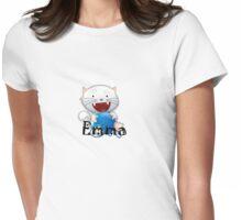 Emma cute little white kitten girls shirt Womens Fitted T-Shirt