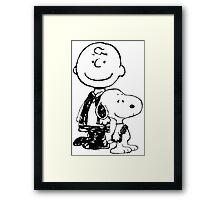 Peanuts meets Star Wars Framed Print
