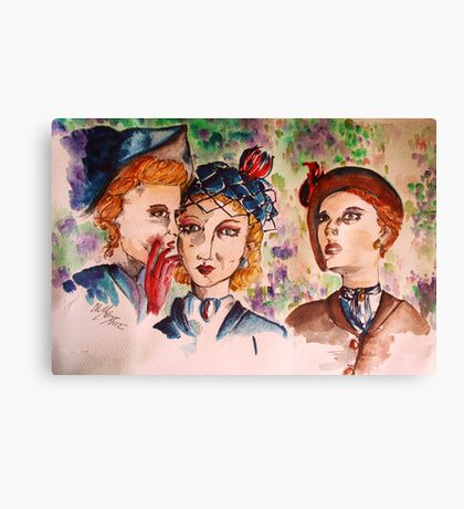 Confessions in the garden Canvas Print