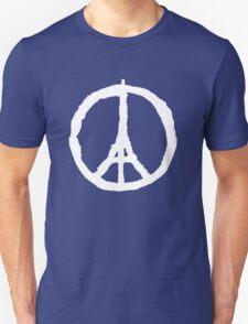 Paris Peace Symbol   White T-Shirt