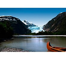 Canoe at Davidson Glacier, Alaska Photographic Print