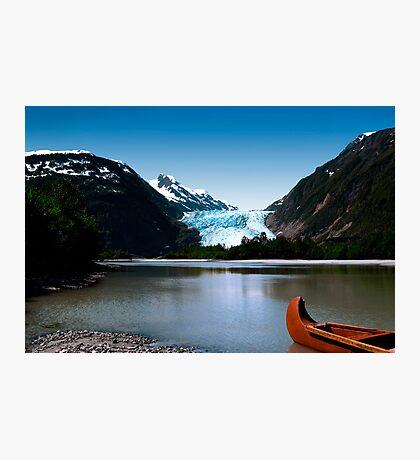 Canoe at Davidson Glacier, Alaska Photographic Print