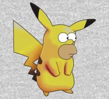 Homerkachu (Homer Simpson + Pikachu; Hybrid Monster) by TwinMaster