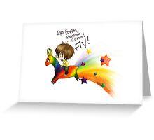 Rainbow llama Greeting Card