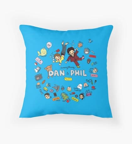 Alpacalyptica: Everything Dan & Phil Throw Pillow