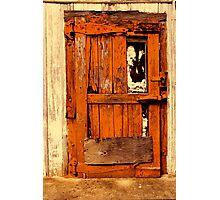 Old Orange Door Photographic Print