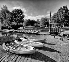 Boats at the Pond by Jay Lethbridge