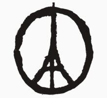 Eiffel Tower Peace Symbol Kids Clothes