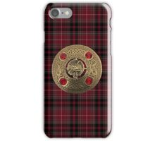 Fiery Cross Inspired Plaid with Frasier Clan Broach iPhone Case/Skin