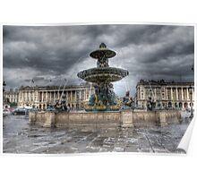 Place de la Concorde, Paris Poster