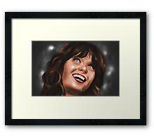 Zooey Deschanel Framed Print