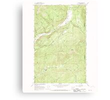 USGS Topo Map Washington State WA Aladdin 239772 1966 24000 Canvas Print