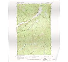 USGS Topo Map Washington State WA Aladdin 239772 1966 24000 Poster