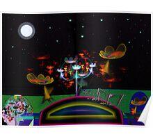 Flower Field #3: A Little Night Music  (G0839) Poster