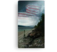 Daisy Flag Canvas Print