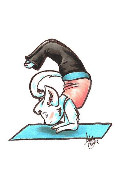 Yoga Kitty by WeileAsh
