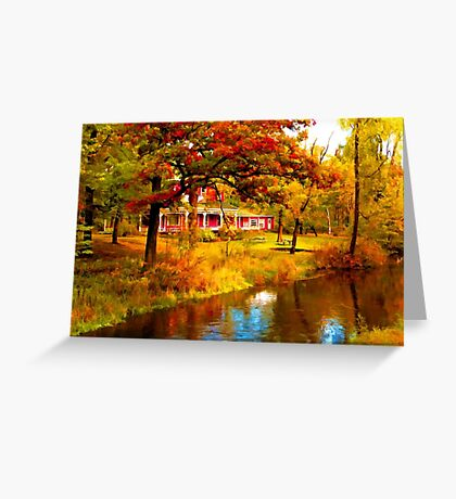 House on Pine River,Wisconsin U.S.A. Greeting Card