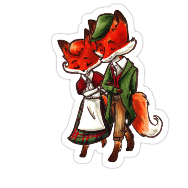 Scottish Foxes by WeileAsh