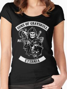 SONS OF GRAYSKULL!! (BLACK) Women's Fitted Scoop T-Shirt