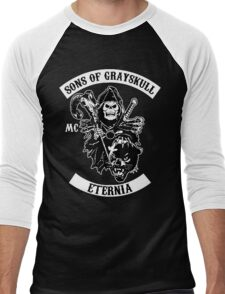 SONS OF GRAYSKULL!! (BLACK) Men's Baseball ¾ T-Shirt