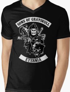 SONS OF GRAYSKULL!! (BLACK) Mens V-Neck T-Shirt