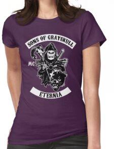 SONS OF GRAYSKULL!! (BLACK) Womens Fitted T-Shirt