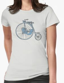 Steam Punk Penny Farthing Womens Fitted T-Shirt