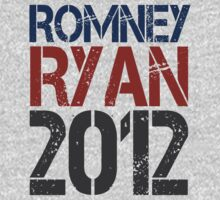 Romney Ryan 2012, Bold Grunge Design One Piece - Long Sleeve