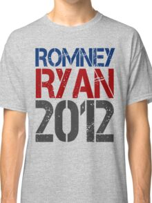 Romney Ryan 2012, Bold Grunge Design Classic T-Shirt