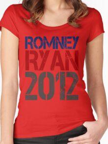 Romney Ryan 2012, Bold Grunge Design Women's Fitted Scoop T-Shirt