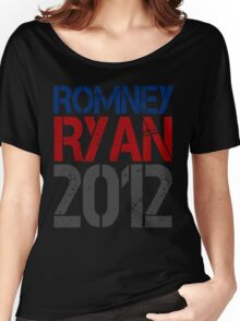 Romney Ryan 2012, Bold Grunge Design Women's Relaxed Fit T-Shirt