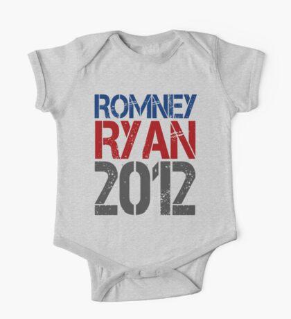 Romney Ryan 2012, Bold Grunge Design One Piece - Short Sleeve